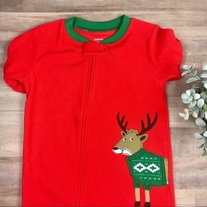 Carter's | Red Reindeer Fleece One Piece Pj's